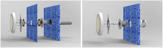 установка светодиодного прожектора Aquaviva LED008–546LED