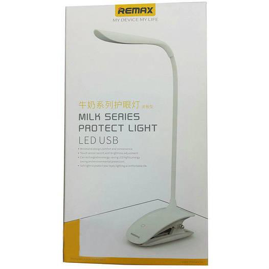 Настольная лампа Remax Led Lamp Protect Light USB прищепка