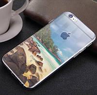 """Прозрачный силиконовый чехол эффектом """"Моря"""" iphone 6/6S"""