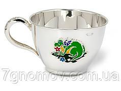 Чашка серебряная детская Дракончик