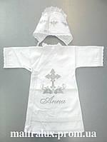 """Крестильная рубашка с чепчиком для девочки """"Анютка"""""""