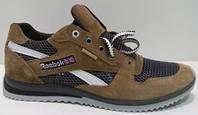 Кожаные кроссовки Reebok коричневые