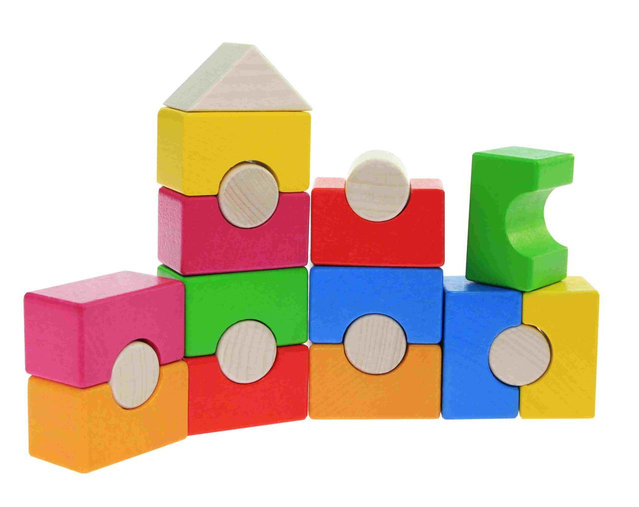 Goki Конструктор деревянный Радужная башня 58587
