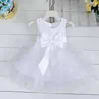 Детское платье праздничное белое на