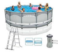 Круглый каркасный бассейн Intex Ultra Frame 427х107