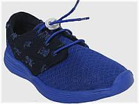 Детские текстильные кроссовки синие с джинсой для мальчика VITALIYA, размеры 28-36