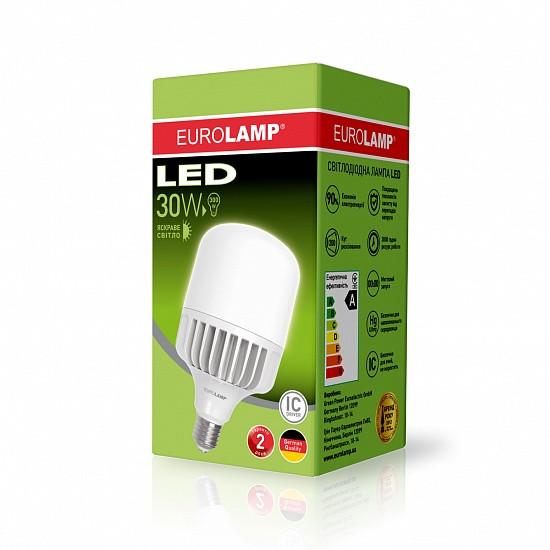 Високопотужна світлодіодна LED лампа EUROLAMP 30W E27 4000K