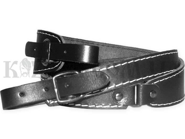 Ремінь рушничний Сокіл широкий з тисненням (шкіра)(чорний,коричневий)