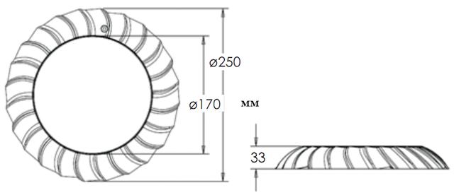 Габаритные размеры светодиодного прожектора Aquaviva LED006–546LED
