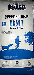 Сухой корм Бош Бридер ягнёнок с рисом (Bosch Breeder Lamb & rice) 20 кг