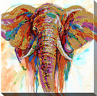 """Набор для вышивки бисером """"Красочный слон"""""""