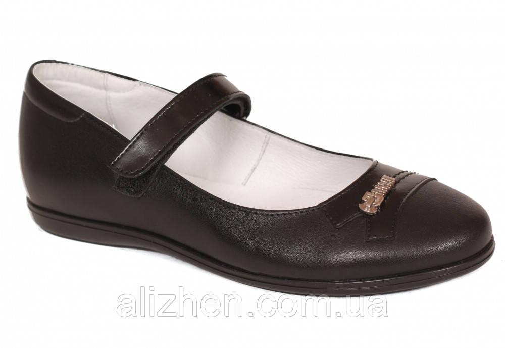 Туфли школьные кожаные детские подростковые для девочки тм Каприз Украина р.  31 32 33 34 35 36 черные 1a149b996654e