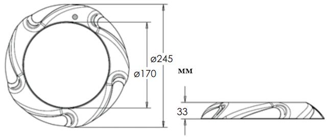Габаритные размеры светодиодного прожектора Aquaviva LED005–546LED