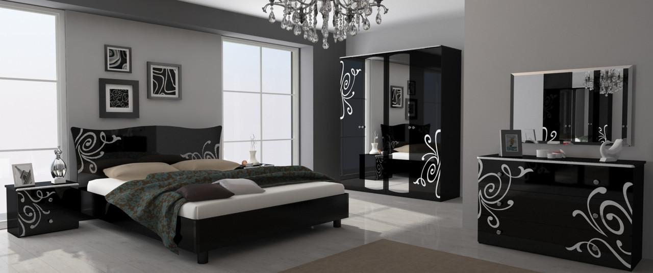 """Спальня"""" Богема"""" глянец черный.Миро Марк."""