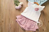 Комплект для девочки шорты и футболка