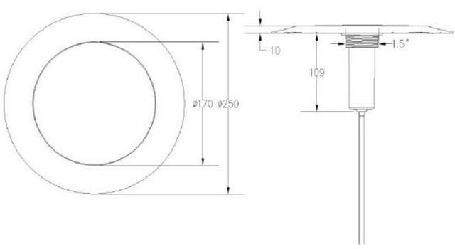 Габаритные размеры светодиодного прожектора Aquaviva LED029–546LED