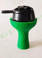 Комплект силиконовая чаша Samsaris Самсарис вихрь Зеленый и калауд Лотус Lotus (Черный)