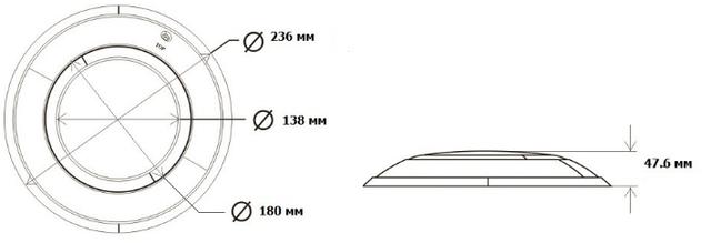 Габаритные размеры светодиодного прожектора Aquaviva LED002–252LED