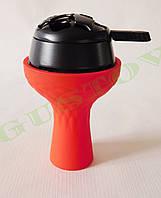 Комплект силиконовая чаша Samsaris Самсарис вихрь Красный и калауд Лотус Lotus (Черный)