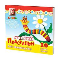 """Пластилин мягкий Луч """"Кроха"""" 12c875, 10 цветов, 165 г, стек"""