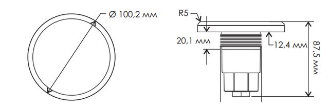 Габаритные размеры светодиодного прожектора Aquaviva LED028–99LED