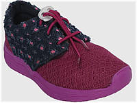 Детские текстильные кроссовки розовые с джинсой для девочки VITALIYA, размеры 28-36