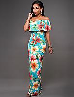Платье Maxi c цветами