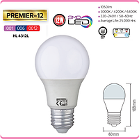 """LED лампа """"PREMIER-12"""" 12W 6400К, 4200К, 3000К A60 E27"""