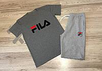 Спортивный костюм летний комплект мужской шорты и футболка FILA Фила