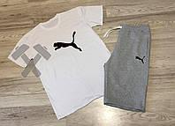 Спортивный костюм летний комплект мужской шорты и футболка Puma Пума