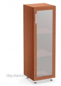 Шкаф стеллаж со стеклом