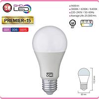 """LED лампа """"PREMIER-15"""" 15W 6400К, 4200К, 3000К A60 E27"""