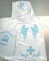 """Крестильная рубашка для мальчика """"Крылья серафима"""""""