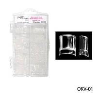 Типсы (ledy victory 100 шт) двухслойные для аквариумного дизайна OKV-01