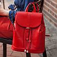 """Кожаный женский рюкзак """"Олсен"""", фото 7"""