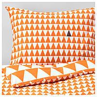 IKEA STILLSAMT Комплект постельного белья, светло-оранжевый  (103.586.59), фото 1