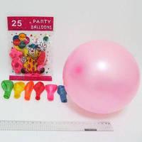 """Воздушные шары (упаковка 25шт) №5188  с рисунком """"Клоун"""" 18см 0,9г"""