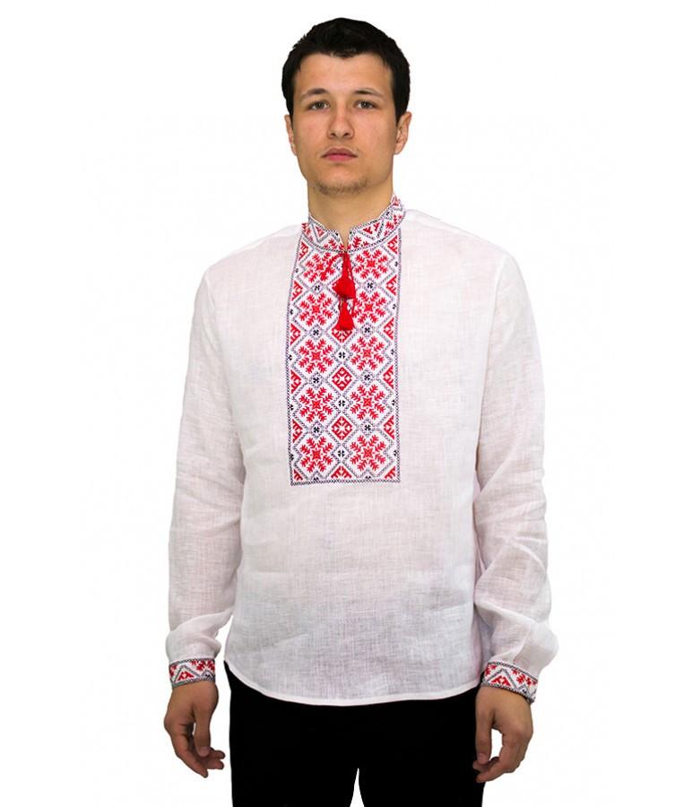 Сорочка вишита гладдю. Чоловіча біла сорочка. Вишиванки чоловічі. Вишиті сорочки.