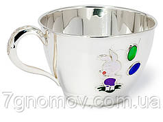Чашка серебряная детская Пятачок
