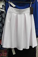 Женская юбка полу-солнце средней длины р-ры: 42, 44,46,48,белого цвета.