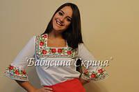 Заготовка жіночої сорочки для вишивки нитками/бісером БС-34