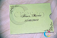 Приглашения на свадьбу в конверте