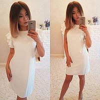 Женское модное платье цвет желтый, белый, персиковый ДГАТ4016