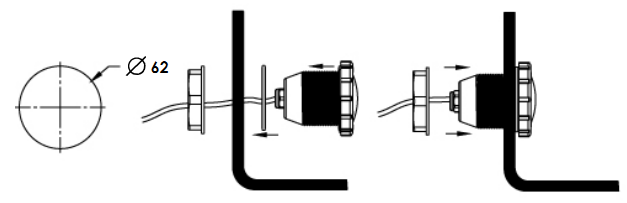 установка галогенового прожектора Emaux UL–P50