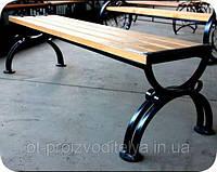Садова лавка з простим і зручним кріпленням, фото 1