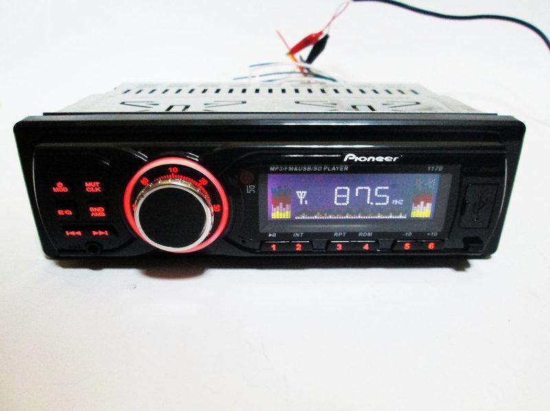Автомагнитола Pioneer 1170 ISO - MP3+FM+USB+SD+AUX