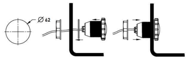 установка светодиодного прожектора Emaux LED–P50W