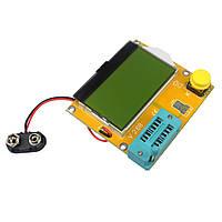 Тестер транзистор конденсатор резистор терристор ESR LCR m328 желтый