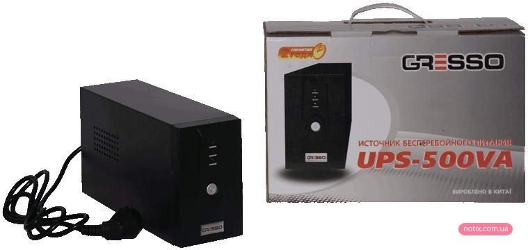 Бесперебойный блок питания Gresso 500VA Off-Line AVR
