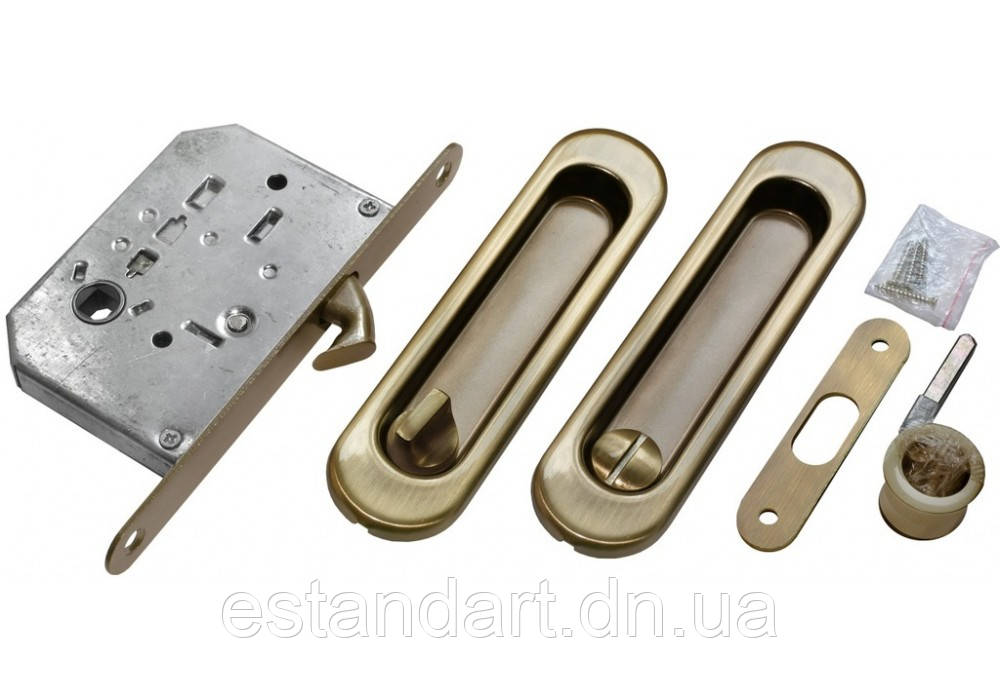 Комплект ВС на раздвижную дверь бронза
